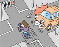 交差点自転車